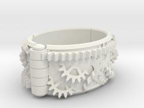 Gear bracelet in White Strong & Flexible