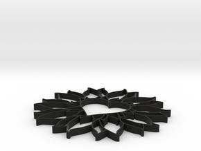 bloemhartknoet in Black Strong & Flexible