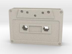 Card Holder - Cassette Tape in Natural Sandstone