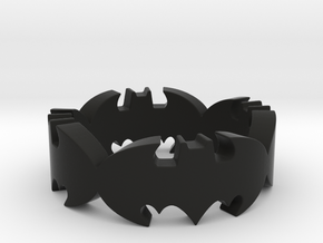 BATMAN  ring size 9,25 in Black Natural Versatile Plastic
