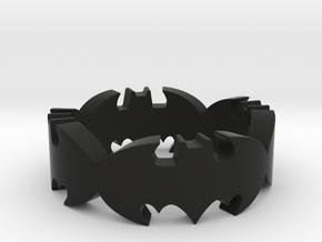 BATMAN  ring size 9,25 in Black Natural Versatile Plastic