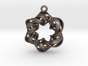 The Six Pointed Star in Polished Bronzed Silver Steel