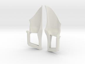Trohn Fighter Thruster in White Natural Versatile Plastic