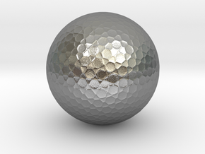 Golf Ball in Natural Silver