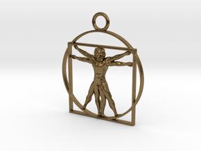 vitruvian man 5cm in Natural Bronze