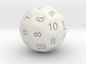 D36 Truncated Standard Numbers in White Natural Versatile Plastic