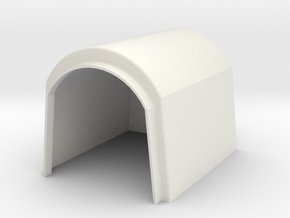 Calf House Square 1/32 in White Natural Versatile Plastic