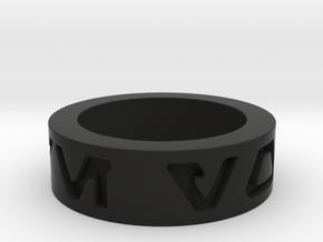 star wars i love you Ring in basic  in Black Natural Versatile Plastic