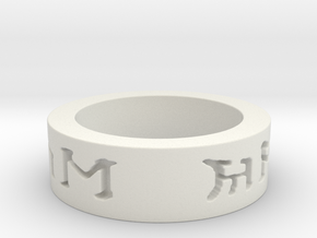 I love you in elven ring in White Natural Versatile Plastic