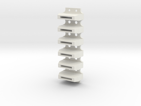R2 Coin Slots SEMI-SOLID in White Natural Versatile Plastic