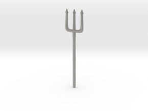 Pitchfork or Trident for Minimates in Metallic Plastic