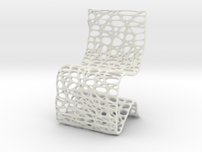 Cell Chair in White Natural Versatile Plastic