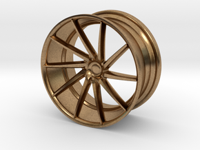 Vossen Mini CVT 25mm 1/24 Scale in Natural Brass