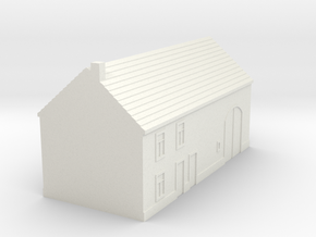 1/350 Barn House 2 in White Natural Versatile Plastic