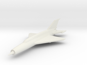1/285 (6mm) Mig-21 SMT K    in White Natural Versatile Plastic