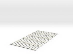 Spur N Kupplungsstange x 60 NEM 1:160 bar coupling in White Strong & Flexible