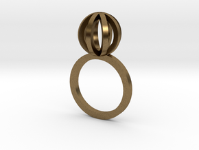 Sphere outlines ring in Natural Bronze
