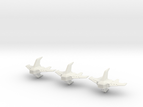 Shadow Rift Mechanized Empire Bomber Wing in White Natural Versatile Plastic