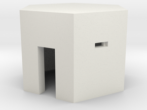 Type 22 Pillbox 2mm Scale in White Natural Versatile Plastic
