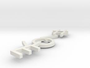 #Hashtag-Earrings - #Love (Single) in White Natural Versatile Plastic