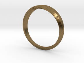 Women's Simple Life Ring in Natural Bronze