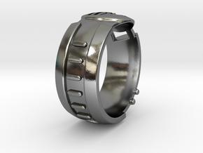Visor Ring 9 in Polished Silver