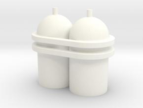 Spaceman Spiff Spaceship Tanks in White Processed Versatile Plastic