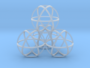 Sphere Tetrahedron in Smooth Fine Detail Plastic