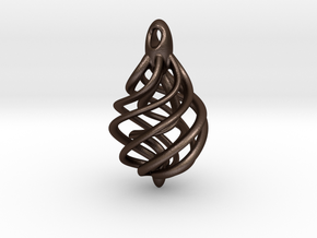 DNA Teardrop Pendant in Matte Bronze Steel