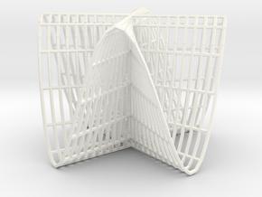 Pluecker's conoid k=4 in White Processed Versatile Plastic