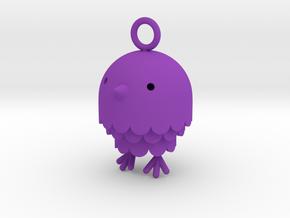 """Peep"" Bird Pendant in Purple Strong & Flexible Polished"