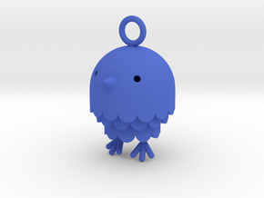 """Peep"" Bird Pendant in Blue Strong & Flexible Polished"