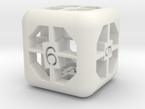 simple d6 in White Natural Versatile Plastic