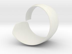 Spiral1 size6 in White Natural Versatile Plastic