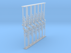 Crossing Gate set of 12 - N Scale in Smooth Fine Detail Plastic