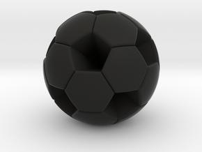 Soccer Ball (White Hexagon Body) in Black Strong & Flexible