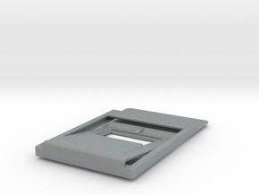 Slim minimalistic Wallet, money clip, bottleOpener in Polished Metallic Plastic