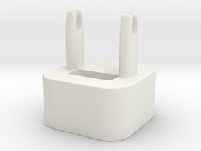 The Wrap - cable winder for iPhone charger in White Natural Versatile Plastic