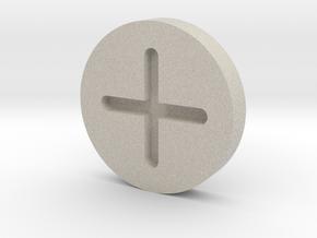 C3PO Hip Screw Cap V1 HOLLOW in Natural Sandstone