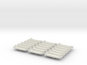 1/1200 LCT Mk5 (x18) in White Natural Versatile Plastic