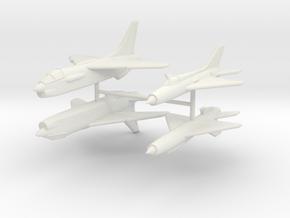 1/350 F-8 Crusader & MiG-21PF in White Natural Versatile Plastic