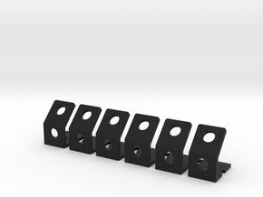 Quadcopter LED Running Light Bracket v3 - Sextet in Black Natural Versatile Plastic