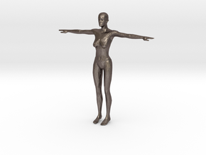Makehuman Opensource Female in Polished Bronzed Silver Steel