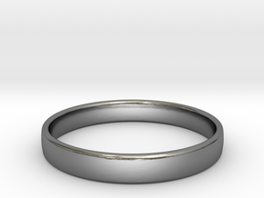 test inel in Polished Silver