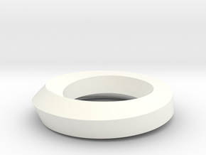 Twist Edge Circle Pentagon in White Strong & Flexible Polished