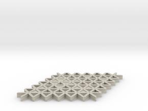isogrid flange 4mm hi in Natural Sandstone
