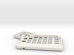 ErgoDox Top Left Case in White Natural Versatile Plastic