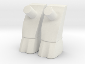 Goat Legs Standard Leg Extensions for Minimates in White Natural Versatile Plastic