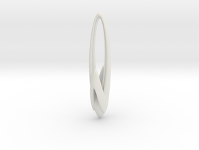 Arching Earring in White Natural Versatile Plastic