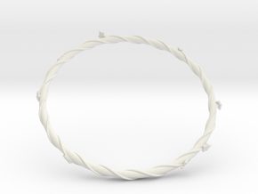 Leaf Bracelet in White Strong & Flexible